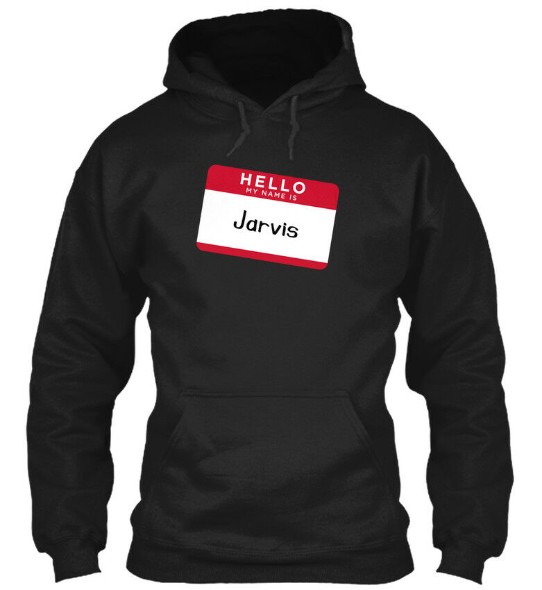 One-of-a-kind Jarvis Hello, My Name Is Is Is - Hello Standard Standard College Hoodie  | Jeder beschriebene Artikel ist verfügbar
