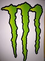 Large Huge Monster Energy Drink Decal Sticker 11.75 X 8.5 Atv/truck/buggy