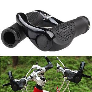 Une-Paire-Nouvelle-Montagne-MTB-Cyclisme-Velo-Lock-on-Guidon-Grips-Bar-Ends