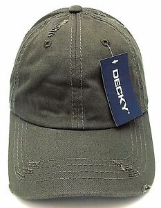 ac3a3affb7fd6 Image is loading Distressed-Unconstructed-Cap-DECKY-Dad-Hat-Curved-Visor-