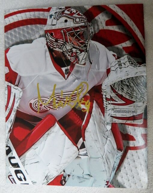 Detroit Red Wings Petr Mrazek Signed 8x10 Photo Auto