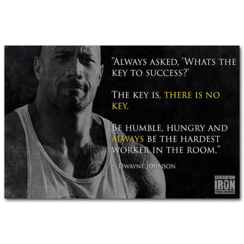 Dwayne Johnson Fast Furious Muscle Strong Star Print T-89 Art Poster The Rock
