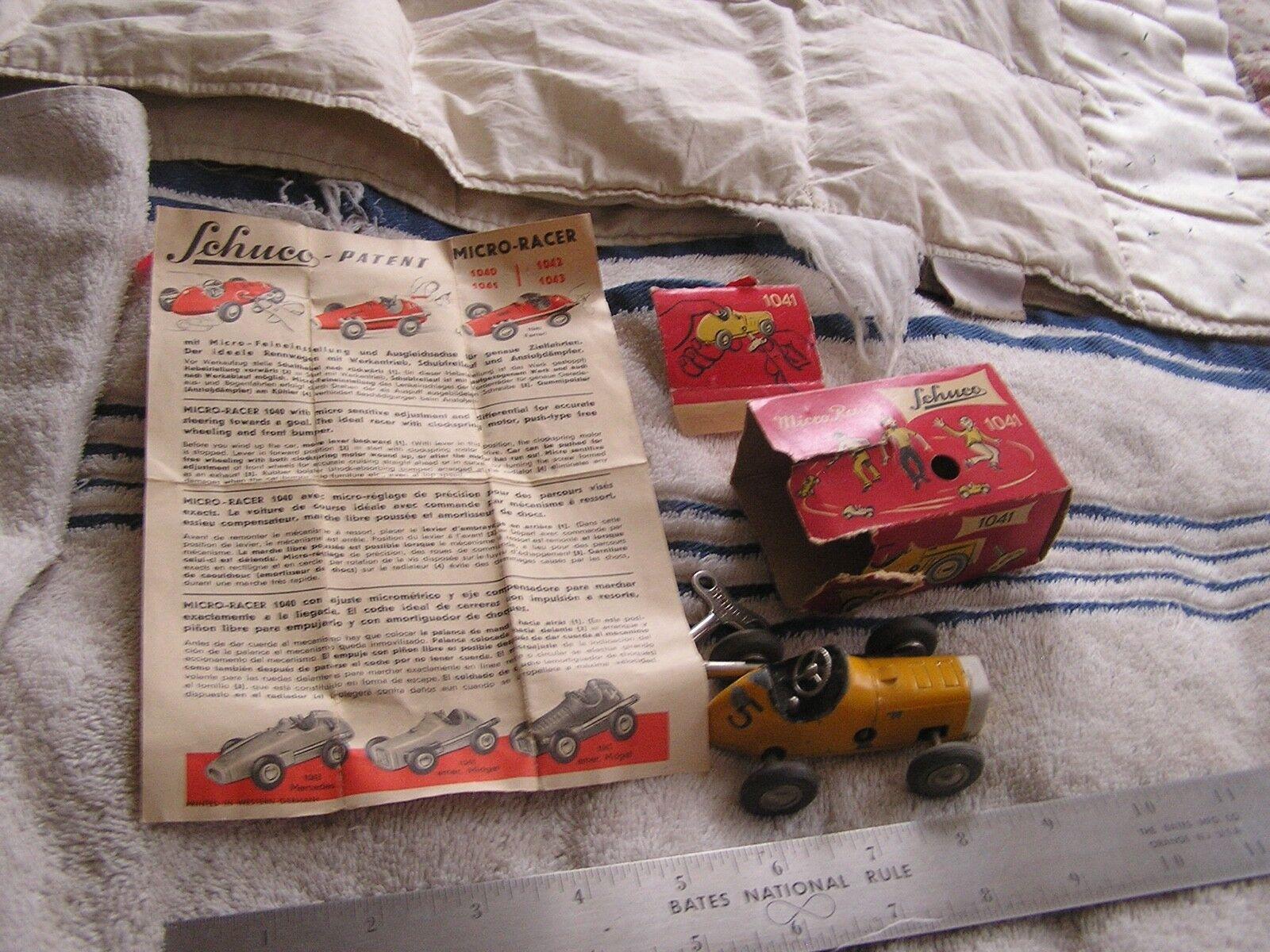 Schuco enano Micro Racer Western Germany Con Llave Caja Original