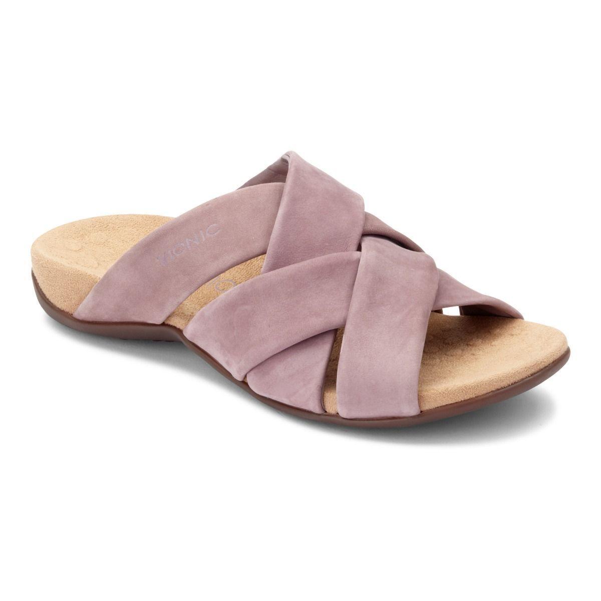 Vionic Orthotic Casual Juno Slide Sandals Orth Technology - Dusk rosa