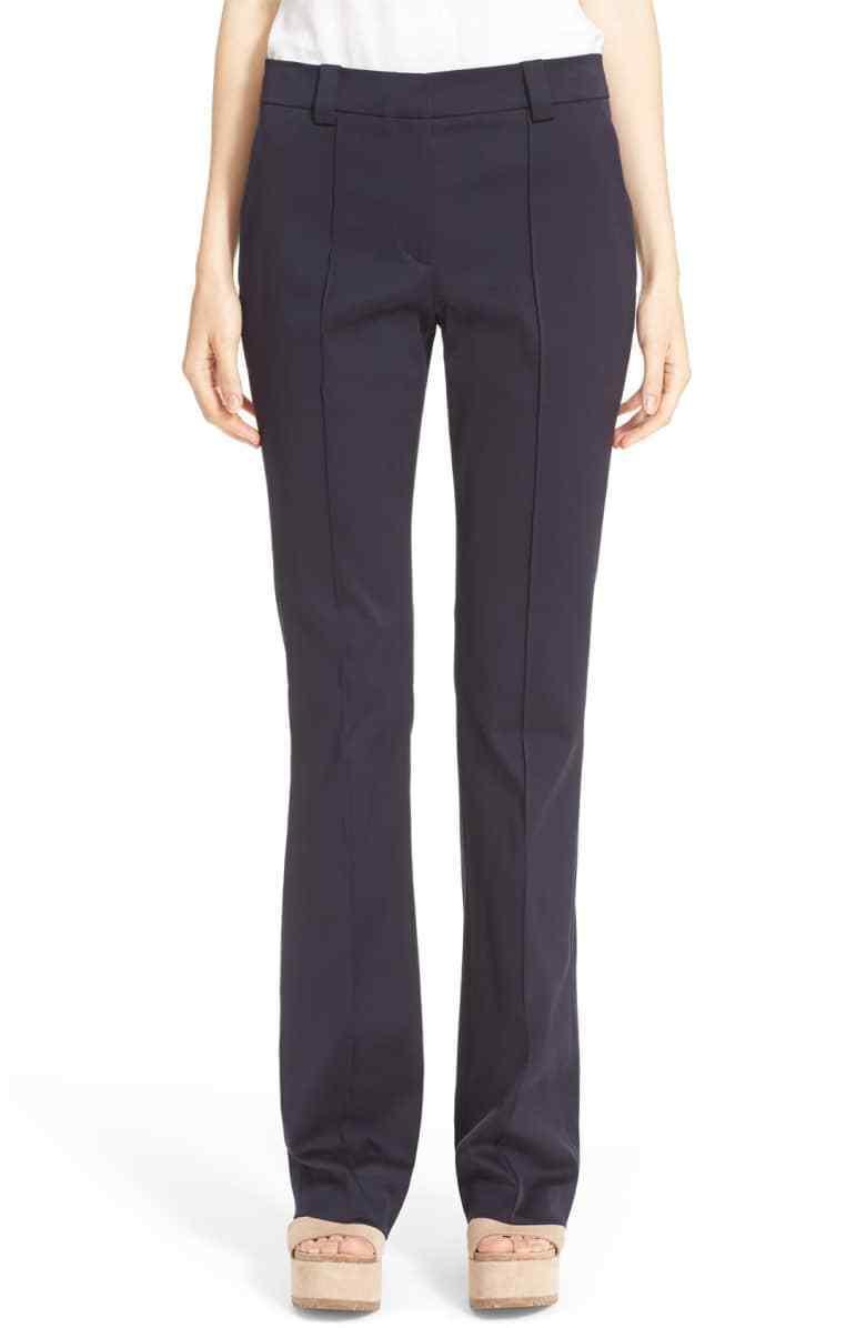"""Neuf Avec Étiquettes A.L.C. & 039;Joseph """"en Coton Extensible Pantalon Größe 10, Blau -  400 Blau Marine"""