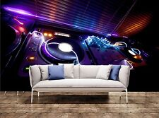 Glowing DJ Equipment Giant Photo Wallpaper Wall Mural Background 3D