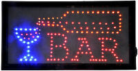 Hot Led Neon Open Sign Animated Lighted Bar Business Sign Or Home Bar Sign