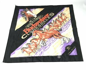 Vintage-1995-Budweiser-Clydesdales-Horse-Bandana-Western-Scarf-Rodeo-Mancave