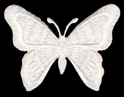 Patches Aufbügeln 6,5 x 5,5 cm Aufnäher // Bügelbild weiß Pilz