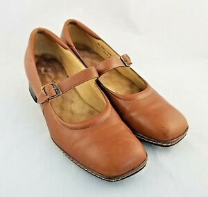 a7d81bc1608 Soft Walk Womens Mary Jane Camel Brown Dress Shoes Size 8 Buckle ...