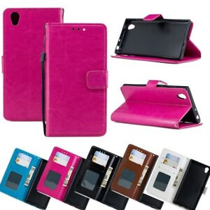 Flip-Wallet-PU-Leather-Case-Stand-Phone-Case-Cover-for-Sony-Xperia-Huawei-ASUS