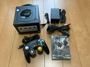 Nintendo-GameCube-Console-amp-Controller-Black-Color-with-BOX-and-Manual