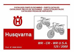 husqvarna wr125 full service repair manual 2000 2001