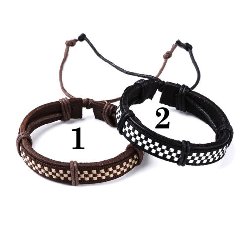 Mens or Women/'s genuine leather surfer tribal wristband bracelet With Gift Bag