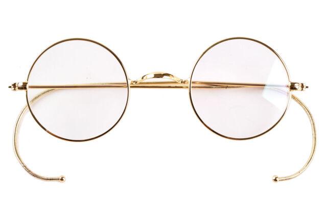 39mm Round Vintage Antique Wire Eyeglass Frame Glasses Reading Frame Eyewear RX