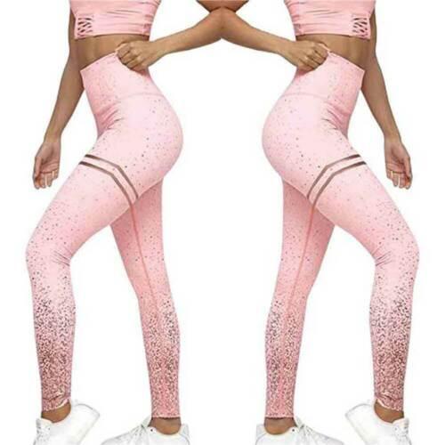 Women High Waist Yoga Pants Butt Lift Leggings Running Ombre Workout Trousers G1