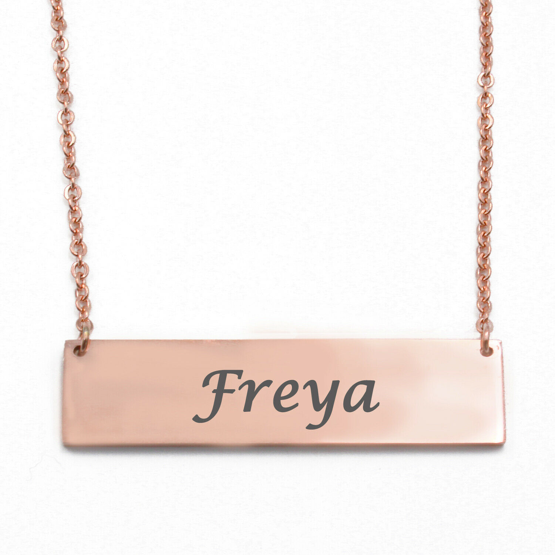 Silver Tone Kigu Freya Custom Name Necklace Personalized