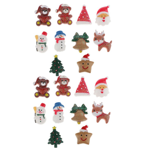 20pcs Christmas Resin Embellishment for Dollhouse Miniature Garden Ornaments