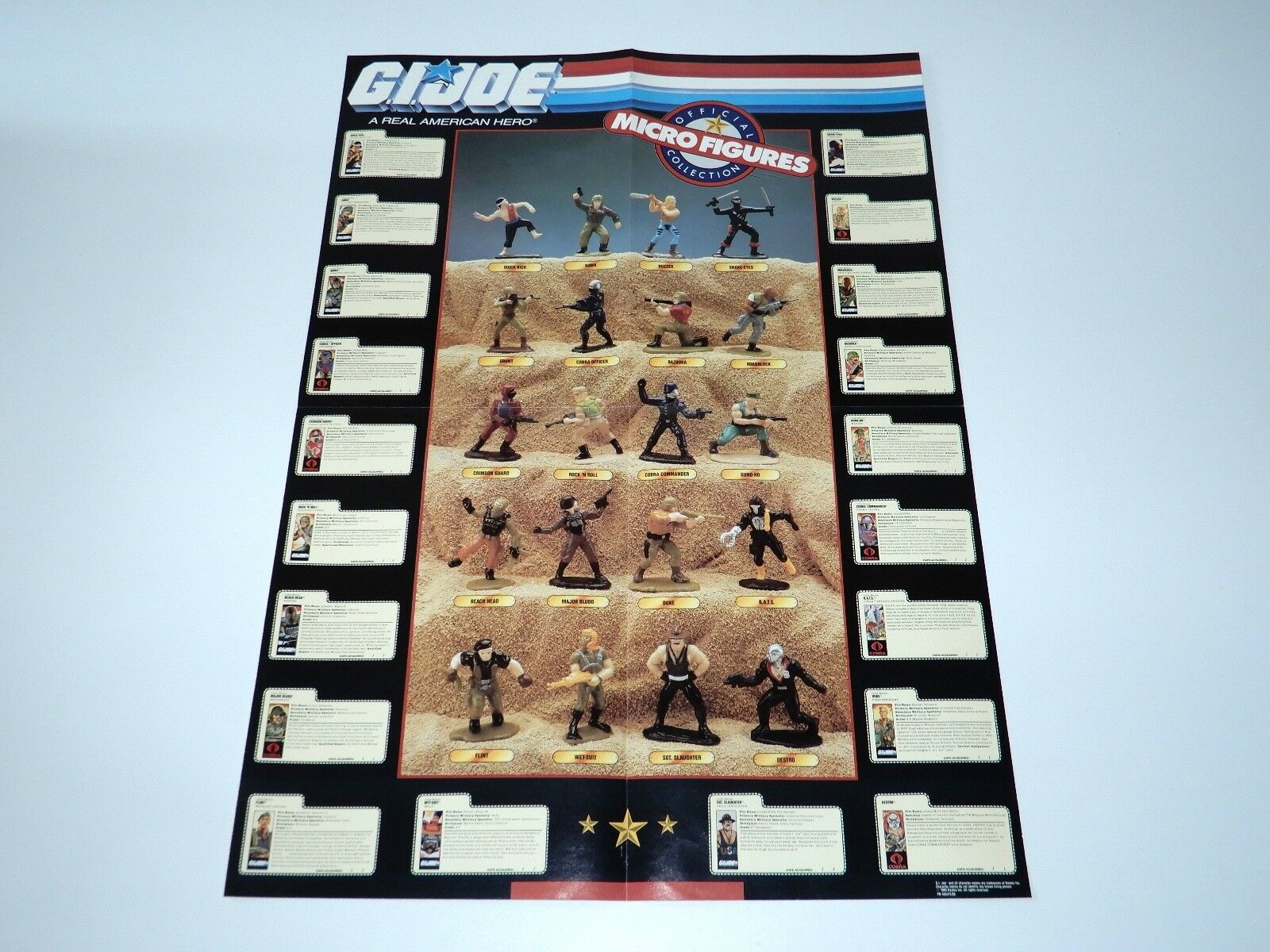 1989 GI JOE MICRO FIGURES MAIL MAIL MAIL AWAY POSTER & ENVELOPE - HASBRO HTF 5285a0