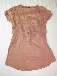 ELLE-Fille-5-ANS-Supebe-tunique-manches-courtes-haut-top-blouse-chemise