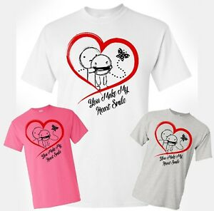 Happy-Valentines-Day-T-Shirt-You-Make-My-Heart-Smile-Cupid-Unisex-Adult-Gift