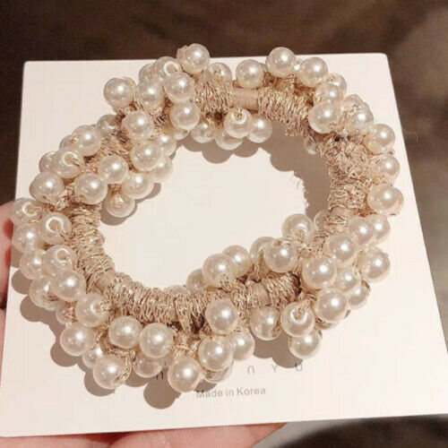 Elegant Girls Ponytail Holder Holder Hairband Women Pearl Hair Band Ties Rope