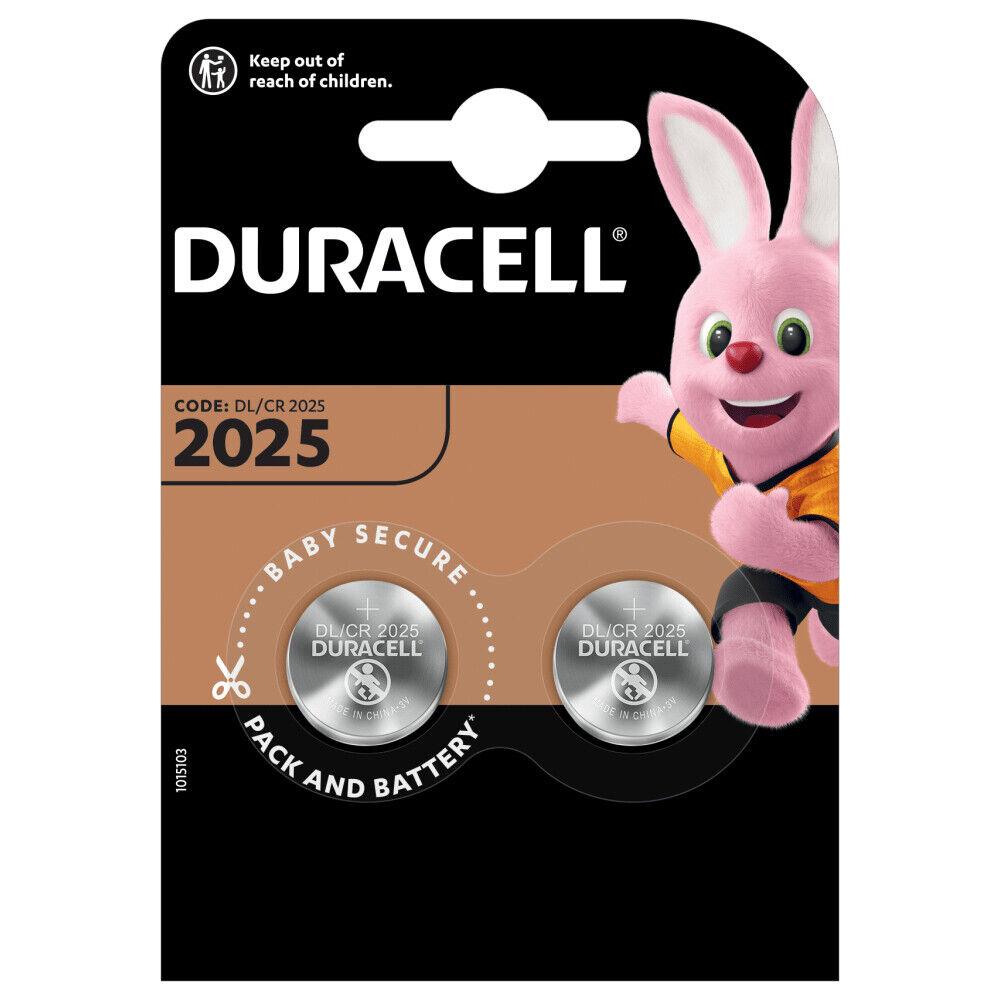4 x Duracell cr2025 CR 2025 dl2025 Lithium Button Cell 2x2er Blister NEW