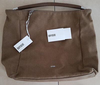 BREE Damen Tasche Handtasche Trendtasche Shopper Hobo bag Canvas braun NEU