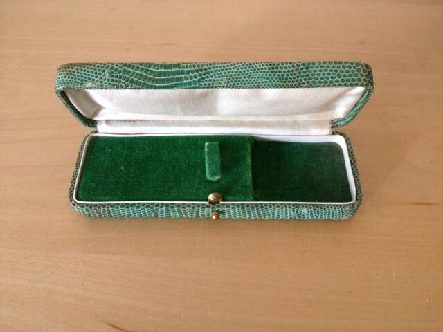 Gebraucht VINTAGE Case Box Schachtel Etui 14 14 14 x 5x2,5 cm Licht Grün Farbe 57179f
