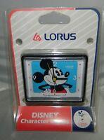 Vtg Lorus Disney Character Mickey Mouse Alarm Clock Quartz Action Dial Japan