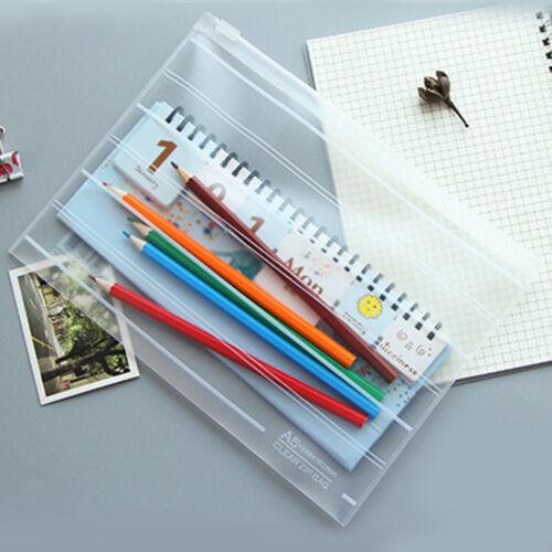 A4 A5 Plastik Reißverschluss Taschen Akten Dokument Ordner Tasche Beutel