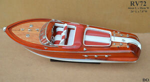 RV72-WOOD-WOODEN-SPEED-BOAT-SHIP-MODEL-for-display-66cm-26-034-High-quality