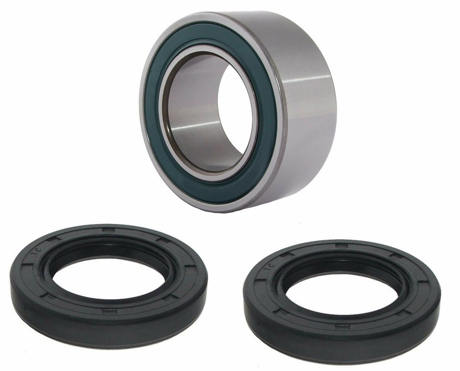 Both Front Wheel Bearing and Seal Kits Compatible with 00-06 Honda Rancher 350 400 4x4 Fourtrax TRX350FE TRX350FM TRX400FA TRX400FGA 4x4 Only