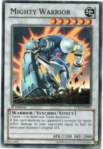 LVAL-EN096 M//NM x3 Mighty Warrior 1st Edition Yu-Gi-Oh Common