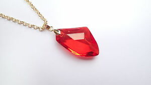 The philosophers stone red crystal pendant necklace harry potter image is loading the philosopher 039 s stone red crystal pendant aloadofball Image collections