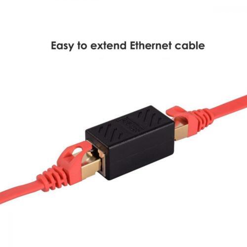 PLUSPOE RJ45 Coupler Ethernet Inline Connector Plugs for Cat5 Cat5e Cat6e...