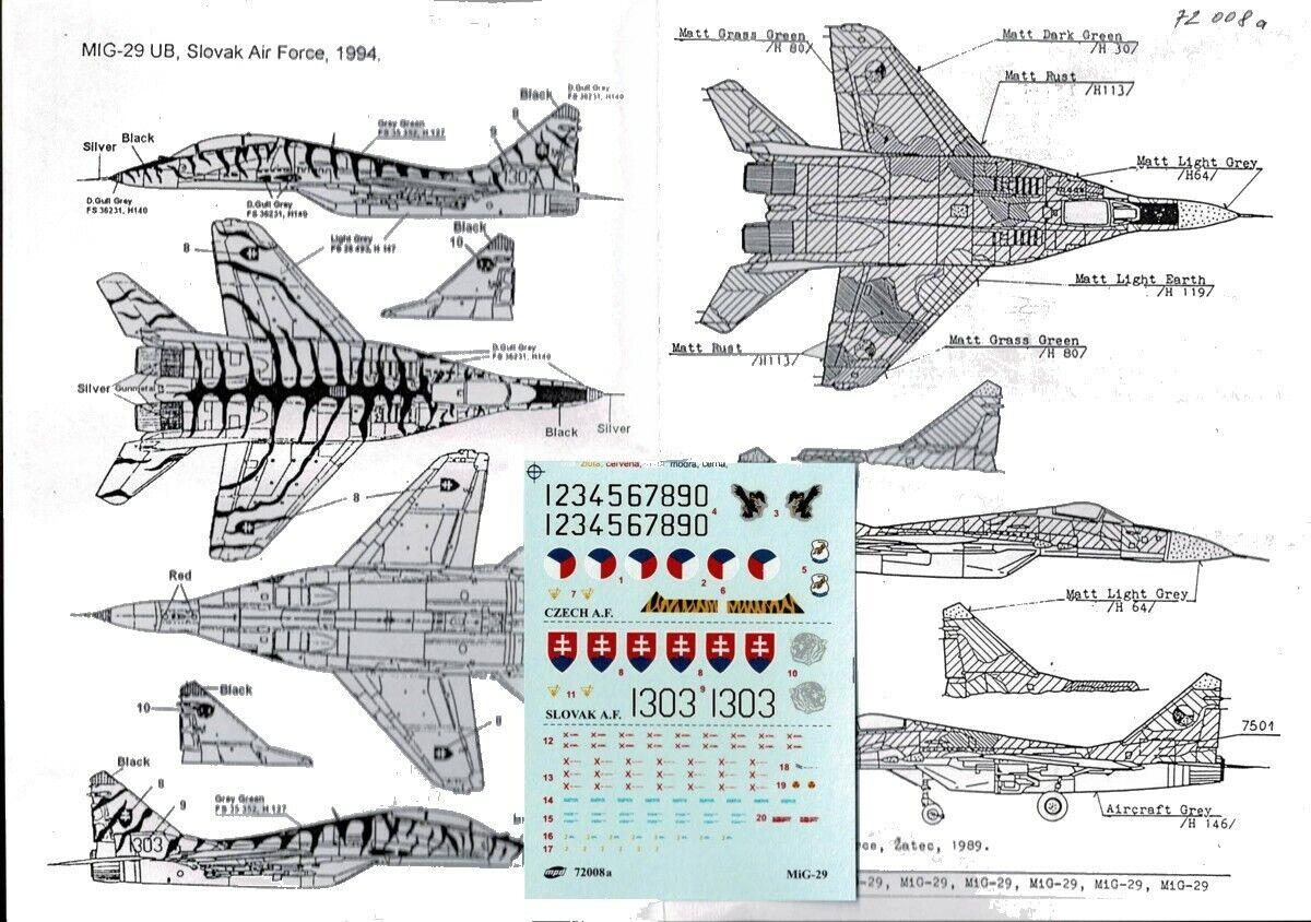 "Mistercraft D-23-1:72 MIG-29G Fulcrum/""REUNION/"" Neu"