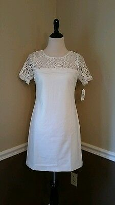 Jessica Simpson Women/'s 3//4 Sleeve Lace Dress Ivory 12 #NJNJK-M469