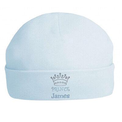 Principe Personalizzata Baby Cappelli-ricamato Idea Regalo/berretti/nuovi Nati/divertente- Volume Grande