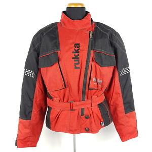 Rukka-Gore-Tex-Motorradjacke-Damen-Gr-42-Schwarz-Rot-Air-Inkl-Protektoren
