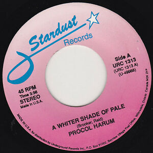 """PROCOL HARUM - A Whiter Shade Of Pale 7"""" 45"""