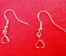 20PCS Wholesale 925 Sterling Silver Jewelry Findings Bail Ear Hooks Earring Wire
