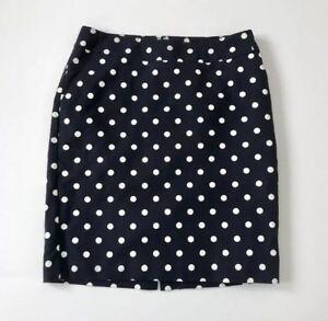c81f34a0c0 Image is loading Merona-Navy-Blue-Polka-Dot-Lined-Pencil-Skirt-