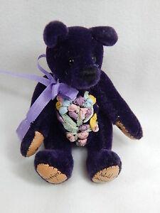 "World of Miniature Bears 2.5/"" Plush Birthday Bear March #589 Collectible Bear"