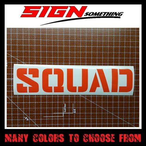 Vinyl Squad Sticker Decal