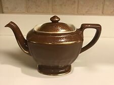 Hall Teapot Hollywood Regency Brown Gold