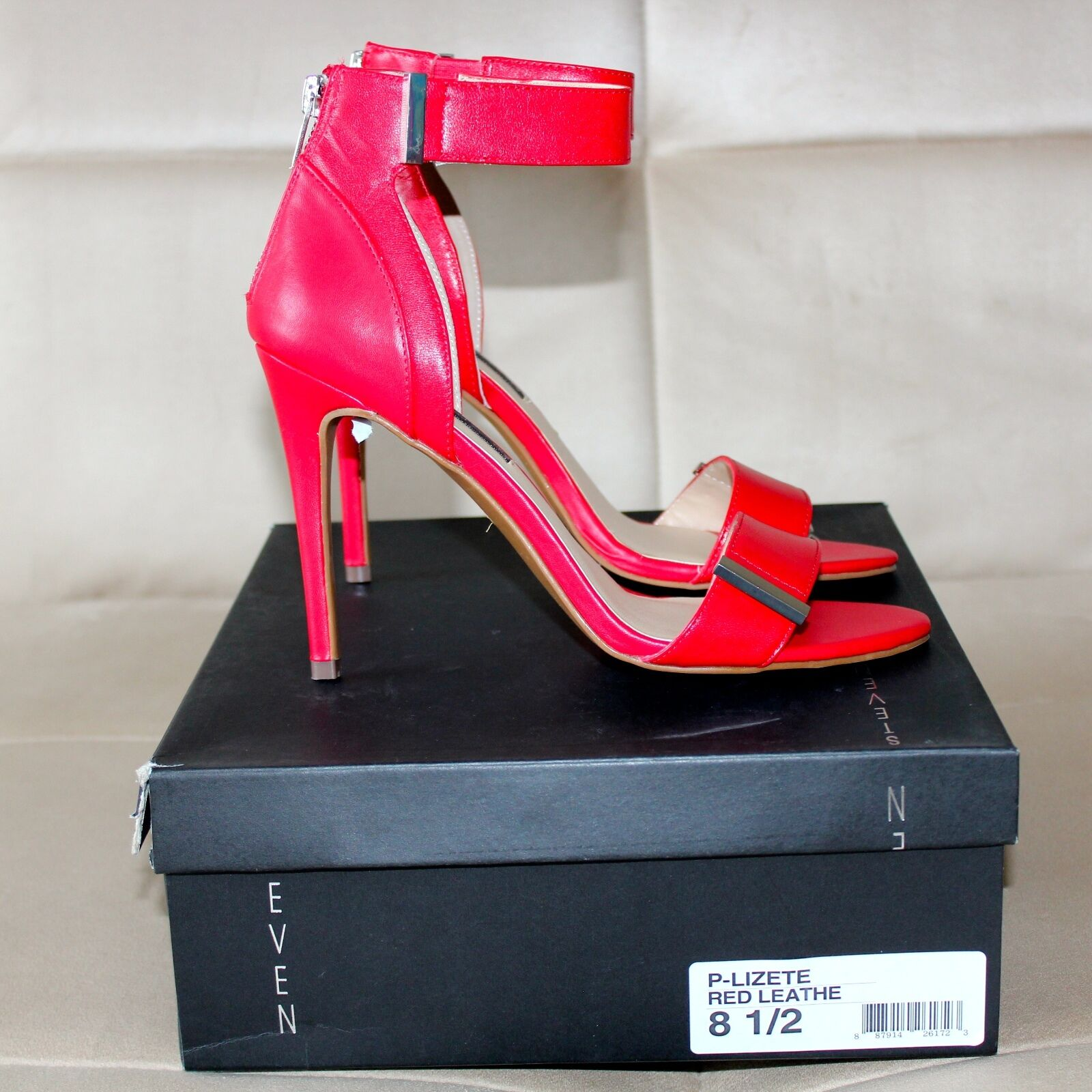 STEVE MADDEN Schuhe SIZE 8,5 LEATHER ROT LEATHER 8,5 2cd555