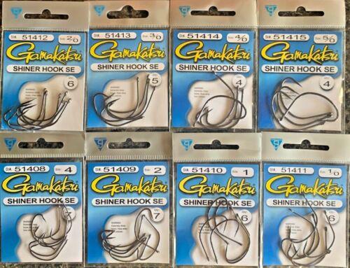 Gamakatsu Shiner Hook SE Kahle Style  8 Sizes to Choose From