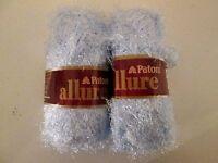 Lot Of 2 Skeins Of Paton's Allure Yarn--aquamarine