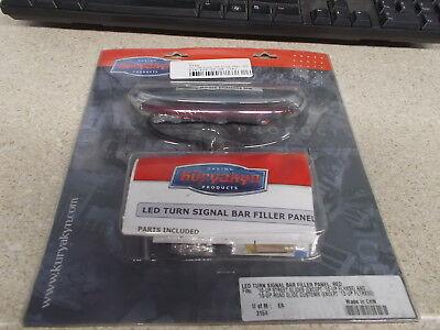 Kuryakyn 3153 Smoke LED Turn Signal Bar Filler Panel